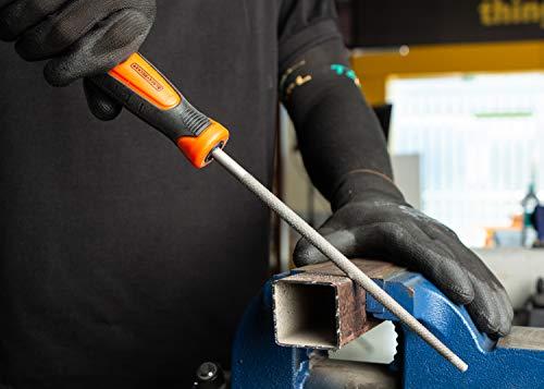 Black + Decker Steel 200mm 2nd Cut Round File (Orange)