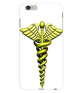 Fuson 3D Printed Doctor Logo Designer Back Case Cover for Apple iPhone 6 Plus - D645