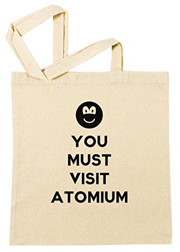 You Must Visit Atomium Einkaufstasche Wiederverwendbar Strand Baumwoll Shopping Bag Beach Reusable