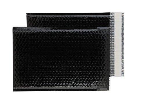 Purely Packaging - Sobre acolchado (C4+, 100 unidades, 324 x 230 mm, cierre autoadhesivo), color negro