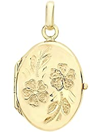 Carissima Gold 9ct Yellow Gold Daisy Locket Pendant