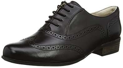 Clarks Hamble Oak, Damen Brogue Schnürhalbschuhe, Schwarz (Black Leather), 34 EU