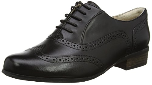 Bräune Casual Schuhe (Clarks Hamble Oak 203467135, Damen Casual Schnürer, Schwarz (Black Leather), EU 39)