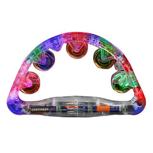 TLfyajJ LED leuchten blinkendes Tamburin, das Handbell Kids Toy Concert Supplies rüttelt Mehrfarbig -