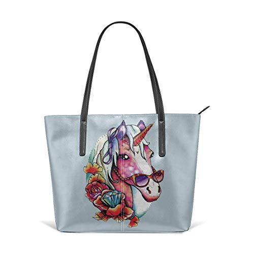 Mode Handtaschen Einkaufstasche Top Griff Umhängetaschen Funky Unicorn Fashion Handbags Tote Bag