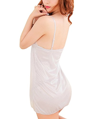 E-Girl fille pure Sexy Gallus Nuisettes Lingerie Set, blanc Blanc
