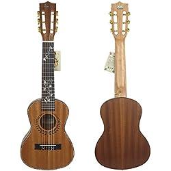 """HJUNS 28"""" Guitalele Guitarlele Guilele Travel Guitar Solid Cedar Teclado con efecto puente instrumentos de cuerda con el cordón libre y bolsa"""