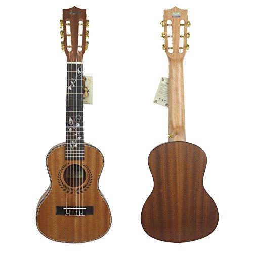 Hjuns - Guitalele de 73 cm elaborado en cedro macizo con puente y diapasón de palisandro, instrumento de cuerda con bolsa y cuerdas incluidas
