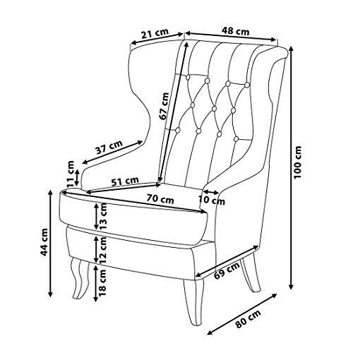 Sessel – Ohrensessel – Relaxsessel – Fernsehsessel – Chefsessel – Polstersessel – MOLDE - 4