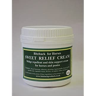 Biteback Products 'Sweet Relief'™ Midge Barrier and Skin Support Cream for Horses 500g 12