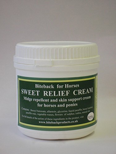 Biteback Products 'Sweet Relief' TM Midge barrera crema para picazón caballos 500g