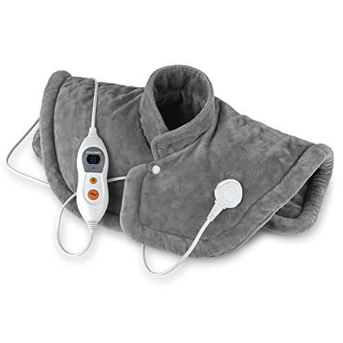VITALmaxx 03038 Wärmekissen Nacken, Schulter, Rücken, Elektisches Nackenheizkissen, Rückenheizkissen & Schulterwärmer, 6 Heizstufen, 100 Watt