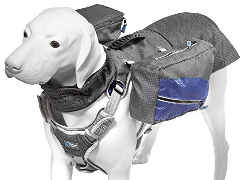 ArmoredTech Adventure Geschirr Multi - Mehrzweck Hunderucksack mit Sattelstaschen für Ausflüge ins Gelände (L - Brustfumfang 46-74 cm) -