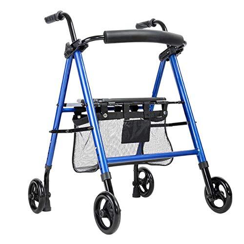 Gehhilfe Aluminiumlegierung Einkaufswagen Behinderte Krücke Alter Mann Bad Stuhl Schwangere Frau kann sitzen Massage Medizinische Instrumente,Blue