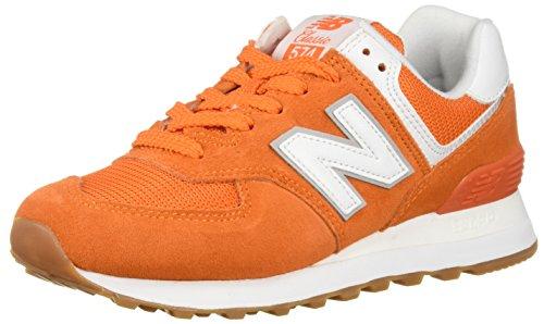 New Balance Damen Wl574EB Sneaker, Orange (Vintage Orange), 36 EU