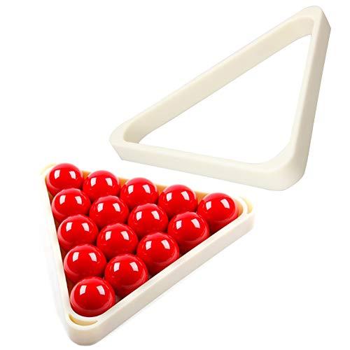 2 Stück Kunststoff Rack Für 8 Ball Billardtisch Rack Snooker, Triangle Rack Organizer Passt Standard 2 1/4
