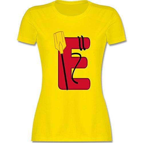 Anfangsbuchstaben - E Schifffahrt - tailliertes Premium T-Shirt mit Rundhalsausschnitt für Damen Lemon Gelb