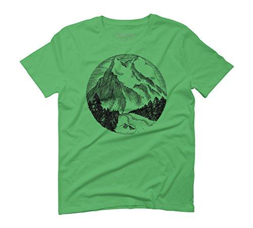 Mountain Landscape Men's Graphic T-Shirt - Design By Humans Green