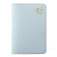 Passport Holder Cover, Lychii PU Leather Travel Wallet Case Organiser for Passport, Business Cards, Credit Cards, Boarding Passes (Blue Wallet)