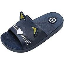 Riou Zapatos Chicos Chicas Niñas Niños Verano Playa Sandalias Zapatos Zapatillas de Dibujos Animados Cat Floor