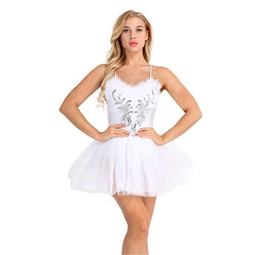 IEFIEL Vestido de Danza Lentejuelas Disfraz de Bailarina Mujer Disfraces de...