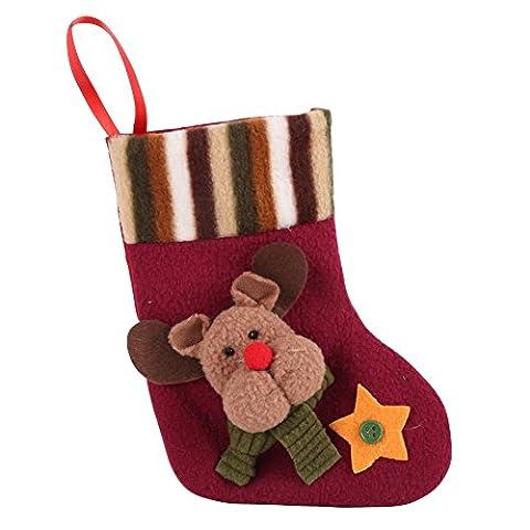PanDaDa Nette Weihnachtsstrümpfe Weihnachtsmann Schneemann Rotwild Süßigkeits Geschenk Beutel Weihnachts