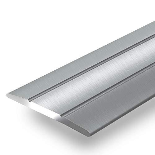 Alu Übergangsprofil Firm | C Form | selbstklebende Abdeckleiste für Fugen | Breite 36 mm | eloxiert Silber | 90 cm - Übergangs-blätter