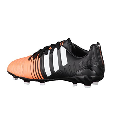 Nitrocharge 3.0 FG Enfants - Chaussures de Foot Noir/Blanc/Orange Flash Black