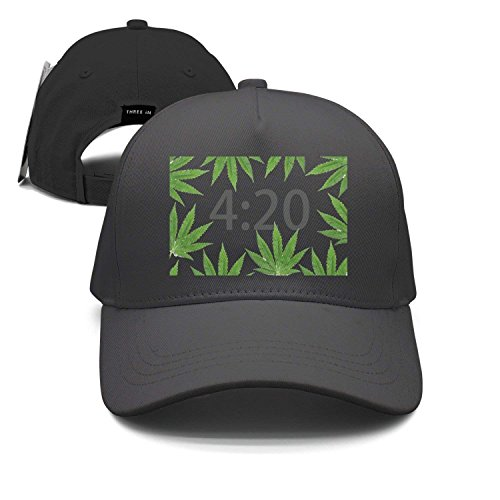 420 Marijuana Weed Unisex Baseball Cap Snapback Hip Hop Caps Fitted Sport Sun Hats