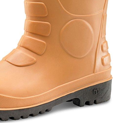 Click Workwear eurorig pour homme en PVC Anti statique/antidérapant de sécurité Rigger botte de travail bronzage