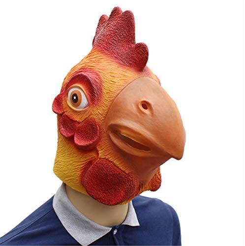 Szl Halloween Geburtstagsfeier Proms Tierkopf Set Big Rooster Latex Face Dark