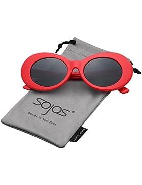 5e1c1cb6c8 Sojos Lentes De Sol Mod Oval Style Marco Grueso Retro Kurt Cobain Sunglasses  SJ2039