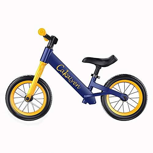 Balance Bike Senza Pedale / 3 4 5 6 Anni Per Ragazze Boystoddler Balance Bike Per, Nessun Pedale Sport Walking Bambini Balance Bike Bicicletta Gomma Espansa Non Gonfiabile Con Manubrio Regolabile, B