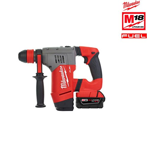 02C FUEL Brushless Akku Bohrhammer mit 2 x 5 Ah Akku, Lader, Koffer (Milwaukee Fuel M18-tools)