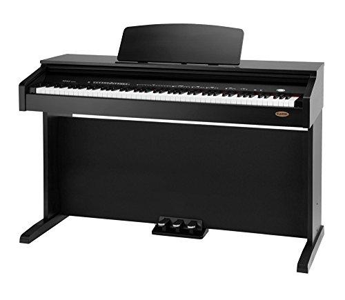 Classic-Cantabile-DP-210-SM-E-Piano-Digitalpiano-mit-Hammermechanik-88-Tasten-2-Anschlsse-fr-Kopfhrer-USB-Metronom-3-Pedale-Piano-fr-Anfnger-schwarz-matt