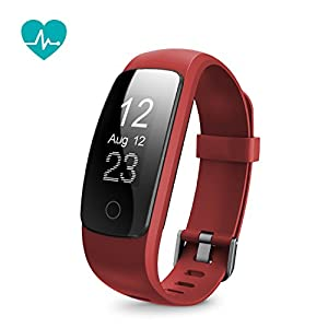 Runme Fitness Tracker with Heart Rate Monitor – Smart Bracelet with Sleep Monitor Bluetooth Activity Tracker with Pedometer IP67 Water Resistant Smart Watch with Call/SMS Remind for iOS Android Smartphone