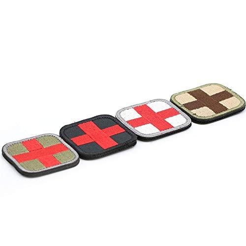 Junyee Erste Hilfe Rotes Kreuz Klettverschluss, Taktisches Militärisches Abzeichen Für Kleidung Hut Tasche(4pcs) -