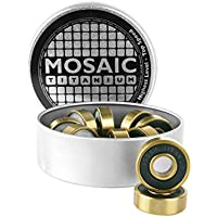 Mosaico super titanio 1ABEC 7rodamientos (8unidades)