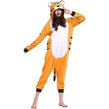 Pijama Tigre de Bengala, Onesie Modelo Animal Cosplay para Adulto entre 1,60 y 1,75 m Kugurumi Unisex