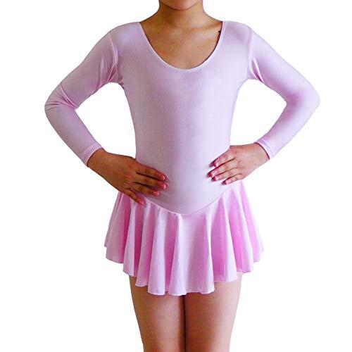 Ballett Tutu Mädchen Trikot Kleid Kinder Tanzkostüm Tanz-kostüme Rosa (Kostüme Billig Ballerina)