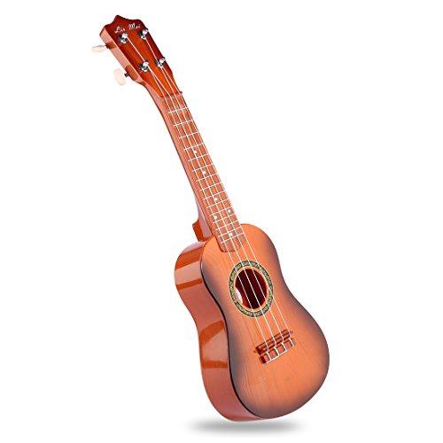 Kindergitarre, Teckpeak Gitarre Musikinstrument für Kinder 21 Zoll Ukulele Musikinstrument Gitarre Spielzeug mit Plektrum - Typ-2