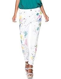 Salsa Jeans Boyfriend con manchas y puntitos de tinta colorida - Kim
