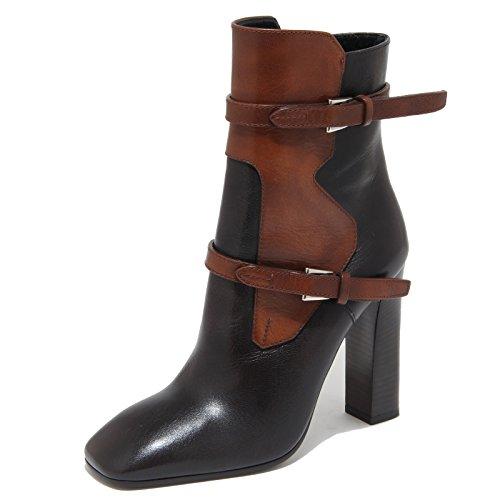 Prada 6052N Tronchetto Stivaletti Donna Boots Women Nero Marrone [37]