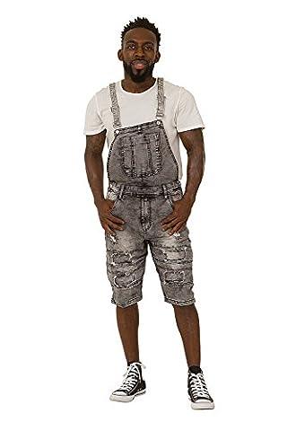 Salopette Short Homme - Homme - Salopette Short - Greywash Drop-Bib