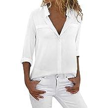 94eb46bedb3 Chaqueta Mujer,Modaworld Blusa de Manga Larga para Mujer Camisa Casual de  Las señoras Camisa