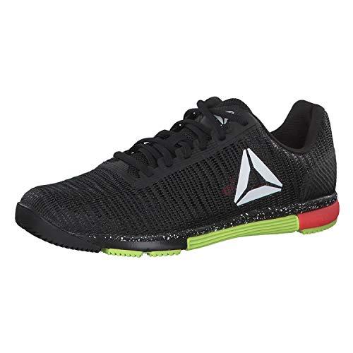 Reebok Herren Speed Tr Flexweave Fitnessschuhe, Mehrfarbig (Black/White Lime/Neon Red 000), 42 EU