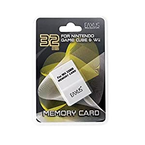 Eaxus GameCube / NGC + Wii Memory Card 32MB. Speicherkarte für Ihre Konsole & Games. Zum Speichern Ihrer Spielstände