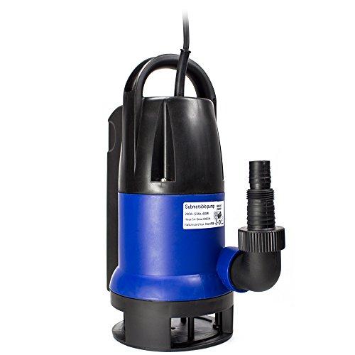 AWM-Tauchpumpe-Flachsaugend-Gartenpumpe-Wasserpumpe-400-Watt-Schmutzwasser-10-m-Rundkabel-Frderhhe-5-m-Frdermenge-8000lh-AM-400-TS