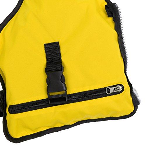 MagiDeal Unisex Anglerweste Jägerweste Weste Jacken mit Taschen für Sport Angeln Gelb