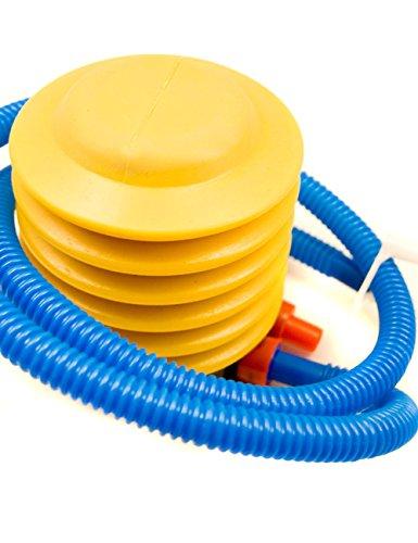 HOMETOOLS.EU® - Pumpe Blasebalg für Bade-Ball Bade-Bälle Schwimm-Ring, Luftmatratze   Schlauch mit verschiedenen Düsen